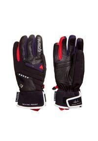 Czarna rękawiczka sportowa Reusch z aplikacjami, narciarska, Primaloft