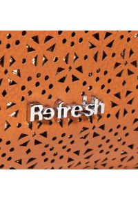 Refresh - Torebka REFRESH - 83370 Camel. Kolor: brązowy. Materiał: skórzane. Styl: casual, elegancki