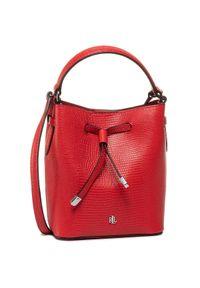 Czerwona torebka worek Lauren Ralph Lauren casualowa