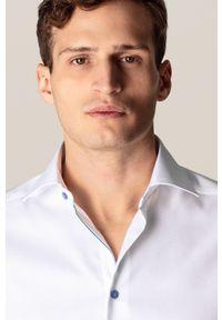 Biała koszula Eton z klasycznym kołnierzykiem, długa, elegancka