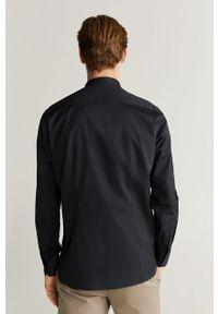 Czarna koszula Mango Man długa, ze stójką