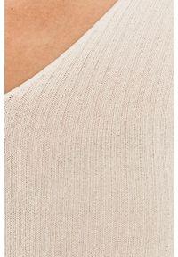 Biały sweter Guess Jeans casualowy, na co dzień
