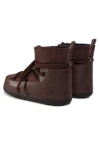 Brązowe buty zimowe Inuikii z cholewką, na co dzień, casualowe