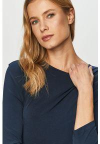 Niebieska sukienka Vero Moda casualowa, z długim rękawem, prosta, na co dzień