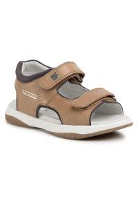 Brązowe sandały Garvalin na lato, klasyczne