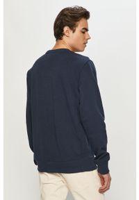 Niebieska bluza nierozpinana Tommy Jeans z aplikacjami, na co dzień, casualowa, bez kaptura