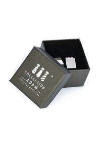 Adam Collection - Srebrne spinki do mankietów z różowymi kryształkami A214. Kolor: srebrny, różowy, wielokolorowy