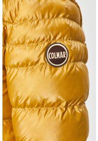 Żółta kurtka Colmar casualowa, na co dzień, z kapturem