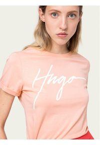Pomarańczowy t-shirt Hugo