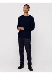Only & Sons - ONLY & SONS Sweter Panter 22016980 Granatowy Regular Fit. Kolor: niebieski. Wzór: motyw zwierzęcy