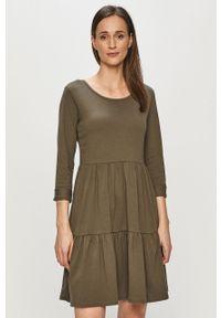 Zielona sukienka Haily's mini, rozkloszowana, gładkie