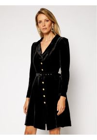 Czarna sukienka Luisa Spagnoli prosta, casualowa
