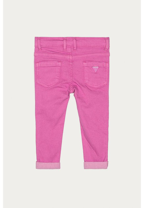 Różowe jeansy Guess Jeans