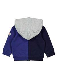 MONCLER KIDS - Kolorowa bluza z kapturem 0-3 lat. Typ kołnierza: kaptur. Kolor: szary. Materiał: bawełna, dresówka. Długość rękawa: długi rękaw. Długość: długie. Wzór: kolorowy. Sezon: lato. Styl: sportowy