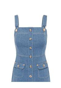 ALICE MCCALL - Niebieska sukienka Woodstock. Kolor: niebieski. Materiał: elastan, bawełna. Wzór: gładki, aplikacja. Sezon: wiosna. Długość: mini