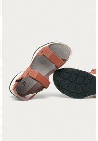 salomon - Salomon - Sandały Tech Sandal Feel. Zapięcie: rzepy. Kolor: różowy. Materiał: skóra, materiał, guma. Wzór: gładki