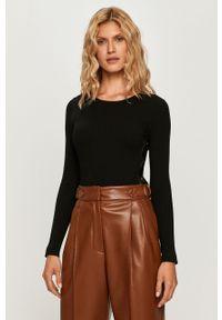 Czarny sweter Sportmax Code z długim rękawem, z okrągłym kołnierzem, długi