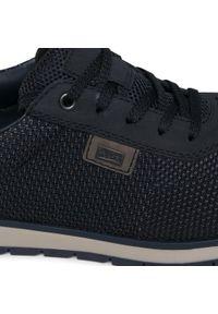 Niebieskie sneakersy Rieker z cholewką