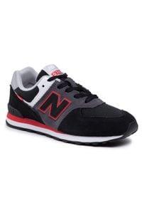 New Balance - Sneakersy NEW BALANCE - GC574SM2 Czarny. Okazja: na uczelnię, na spacer. Kolor: czarny. Materiał: skóra, zamsz, materiał. Szerokość cholewki: normalna