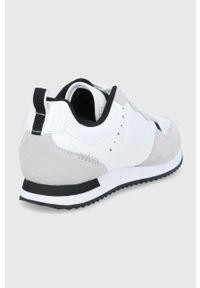 Sisley - Buty. Nosek buta: okrągły. Zapięcie: sznurówki. Kolor: biały. Materiał: guma