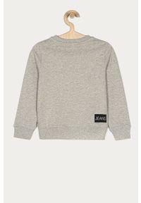 Szara bluza Calvin Klein Jeans bez kaptura, casualowa, na co dzień