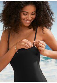 Kostium kąpielowy bandeau bonprix czarny. Kolor: czarny