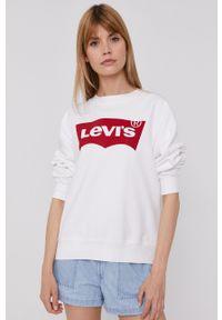 Levi's® - Levi's - Bluza. Okazja: na co dzień, na spotkanie biznesowe. Kolor: biały. Długość rękawa: długi rękaw. Długość: długie. Wzór: nadruk. Styl: biznesowy, casual