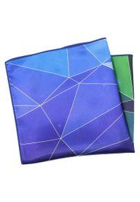 Niebieska poszetka Alties w geometryczne wzory