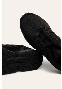 Czarne buty sportowe adidas Originals na sznurówki, z cholewką, na średnim obcasie, na obcasie #5