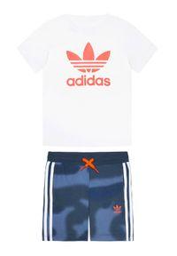 T-shirt Adidas w kolorowe wzory, sportowy