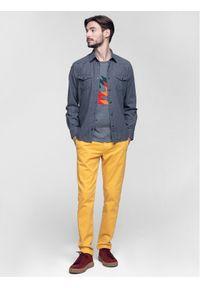 Vistula Spodnie materiałowe Flint XA0613 Żółty Regular Fit. Kolor: żółty. Materiał: materiał