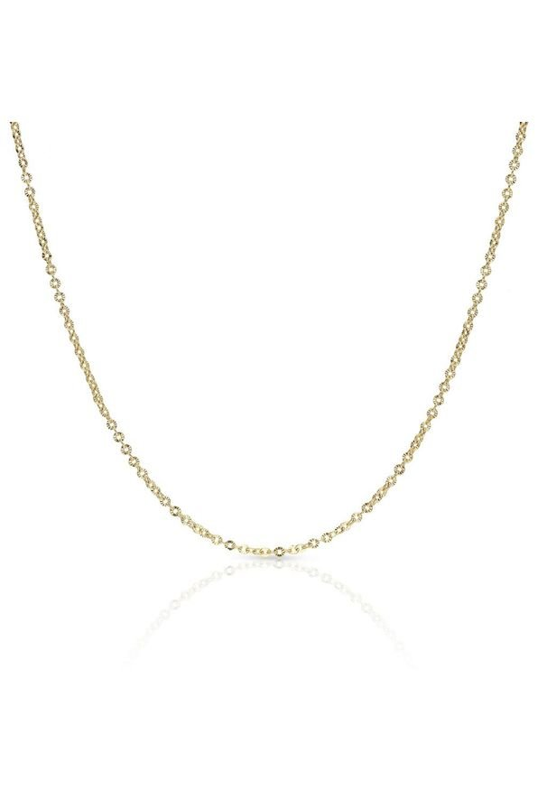 W.KRUK Wspaniały Złoty Łańcuszek - złoto 585 - ZVI/LG02. Materiał: złote. Kolor: złoty. Wzór: ze splotem