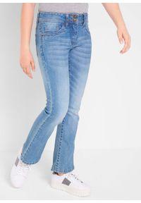 """Dżinsy dziewczęce ze stretchem BOOTCUT bonprix niebieski """"medium bleached"""". Kolor: niebieski"""