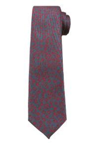Popielaty Elegancki Krawat -Angelo di Monti- 6 cm, Męski, Czerwony Wzór Florystyczny. Kolor: czerwony. Wzór: kwiaty. Styl: elegancki