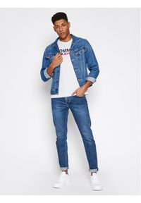 Tommy Jeans T-Shirt DM0DM10214 Szary Regular Fit. Kolor: szary