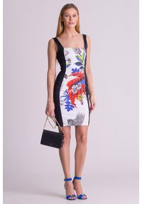 Sukienka Just Cavalli w kwiaty, na ramiączkach, elegancka