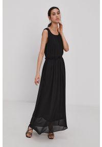 Jacqueline de Yong - Sukienka. Okazja: na co dzień. Kolor: czarny. Materiał: tkanina. Wzór: gładki. Typ sukienki: proste. Styl: casual