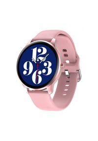 GARETT - Smartwatch Garett Women Paula różowy. Rodzaj zegarka: smartwatch. Kolor: różowy. Materiał: guma. Styl: sportowy, klasyczny