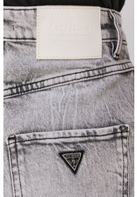 Guess - Spódnica jeansowa. Kolor: szary. Materiał: jeans