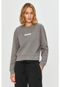 Calvin Klein Performance - Bluza bawełniana. Okazja: na co dzień. Kolor: szary. Materiał: bawełna. Długość rękawa: długi rękaw. Długość: długie. Styl: casual