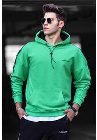 IVET - Bluza męska GABRIEL GREEN. Okazja: na co dzień. Typ kołnierza: kaptur. Kolor: zielony. Materiał: bawełna. Styl: casual