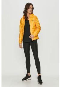 Żółta kurtka adidas Performance z kapturem, casualowa, na co dzień