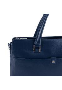 Niebieska torba na laptopa Wittchen klasyczna
