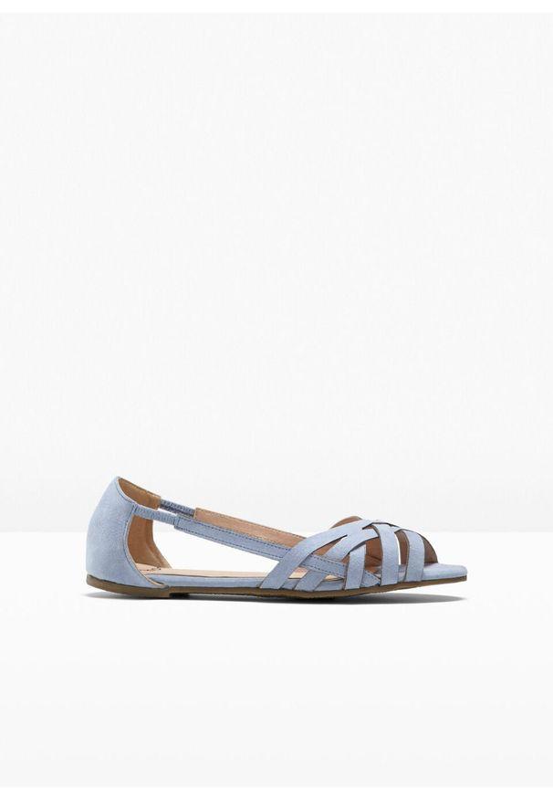 Niebieskie sandały bonprix z paskami