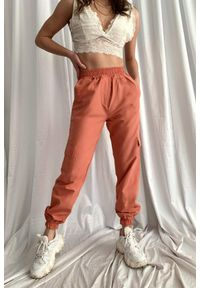 Pomarańczowe spodnie IVET sportowe, na co dzień