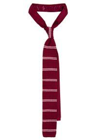 Czerwony krawat Lancerto na co dzień, na zimę, casualowy