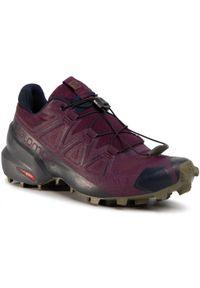 Fioletowe buty do biegania salomon Salomon Speedcross, z cholewką