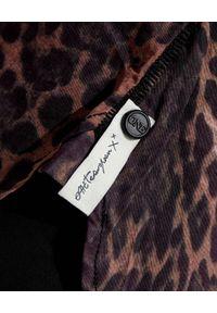 ONETEASPOON - Koszula w cętki. Typ kołnierza: kołnierzyk klasyczny. Kolor: brązowy. Materiał: jeans, materiał, wełna. Długość rękawa: długi rękaw. Długość: długie. Wzór: motyw zwierzęcy. Styl: klasyczny, elegancki, rockowy