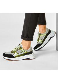 Zielone sneakersy Togoshi na co dzień, z cholewką