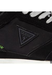 Guess - Sneakersy GUESS - New Glorym Smart FM7NGS ELE12 BLACK. Kolor: czarny. Materiał: materiał, zamsz. Szerokość cholewki: normalna